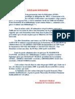 Article Pour Information