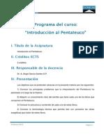 Programa Introduccion Al Pentateuco
