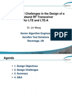 System-level Challenges in the Design of a Wideband RF Transceiver for LTE and LTE-A