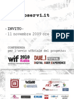 Webdesign International Festival - Launch event invitation
