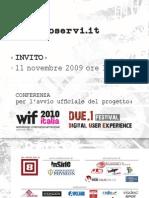 Webdesign International Festival - Launch event invitation