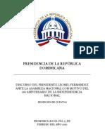DISCURSO OFICIAL rendición de cuentas 2010