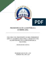 DISCURSO OFICIAL rendición de cuentas 2008