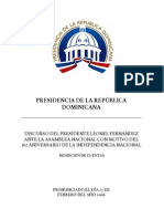 DISCURSO OFICIAL  rendición de cuentas 2006