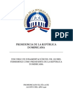 DISCURSO OFICIAL de Juramentación 1996