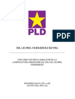 DISCURSO POLÍTICO candidatura presidencial 2003