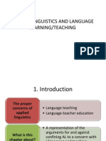 applied linguistic and language teaching and learning