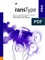 Product Manual for Transtype Pro 3