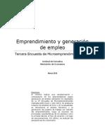 Boletín Emprendimiento y Generación de Empleo EME 3
