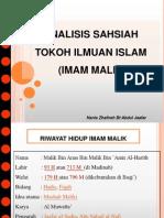 Analisis Sahsiah Imam Malik