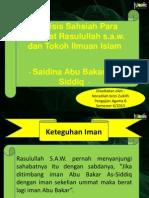 Analisis Tokoh Saidina Abu Bakar