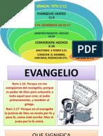 Clase Bautismal 4 El Evangelio