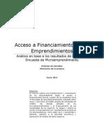 Boletin EME 3 Acceso a Financiamiento