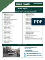 DDOT announces Service Changes due to M1 Rail construction 2014