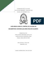 Guía Básica Para El Control de Calidad en Recarpeteos Con Mezclas Asfálticas en Caliente BUENISIMO