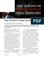 Keep Your Doctor Change Your Senator