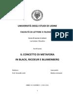 Antoniel - 2012 - Il Concetto Di Metafora in Black, Ricoeur e Blumenberg