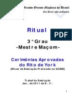 Ritual York GOMB - Mestre Maçom-1