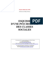 Esquisse d Une Psychologie Des Classes Sociales