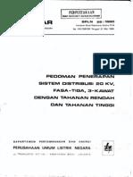 Spln 26 1980 Pedoman Penerapan Tm & Pentanahan r Rendah & Ti