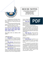 2014 House Notes Week Nine