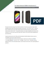 Cara Mengaktifkan Data Internet GSM Di Andromax C