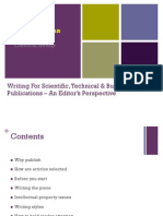 Writing for Scientific & Technical Publications - Revised