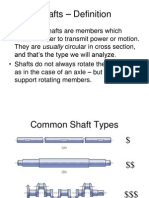 Bearings Shafts