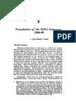Foundation of the Delhi Sultanate 1206-90