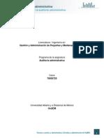 Unidad 2. Metodologia de La Auditoria Administrativa