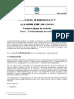 IRAM 2344-1 Modificacion de Emergencia
