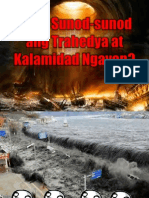Bakit Sunod-sunod Ang Trahedya at Kalamidad Ngayon