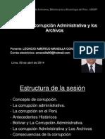 AMERICO 9 ABRIL La Corrupción Administrativa y Los Archivos Ppt.