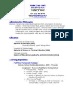 mark lowe resume - may 2014
