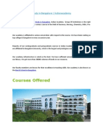 Study in Bangalore | Indianacademy