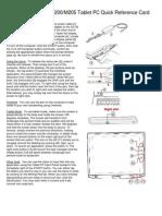 Toshiba Portégé M200/M205 Tablet PC Quick Reference Card