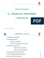 1 - Crude Oil Treatment - Separation