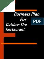 123949682 Business Plan of Restaurant
