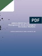 Assignment 80- Stock Exchange