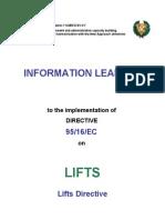 Information Leaflet for Lifts-En