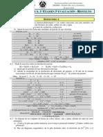 2013 - 2º Bach a Química - 3ª Evaluación 1º Examen - Resuelto