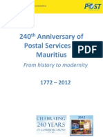 240 Years of the Post 1772 -2012