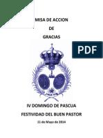 Misa de Accion de Gracias Ofeen 2014