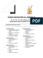Curso de Iniciación Al Arbitraje Zona Norte 2014