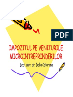 Curs 3 Impozit Pe Venit Microintreprinderi