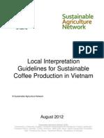 SAN-G-1-1 Local Indicators Coffee Vietnam