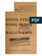 TM 5-277 FIXED STEEL PANEL BRIDGE BAILEY TYPE