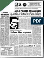 L'Unità 3 Novembre 1975 - Ed. Naz. Completo