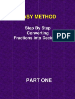 Easy Method Step by Step Converting Fractions Into Decimals