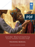 Gender Mainstreaming Training Manual 2007